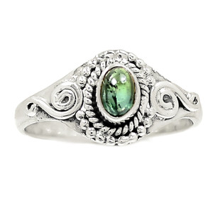 Green Tourmaline 925 Sterling Silver Ring Jewelry s.9 RR216403