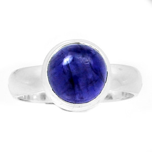 Iolite Cabochon 925 Silver Ring Jewelry s.7 SSS ILCR23