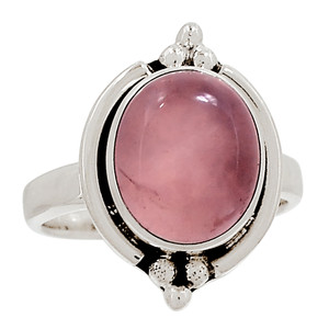 Rose Quartz 925 Sterling Silver Ring Jewelry s.7.5 28673R