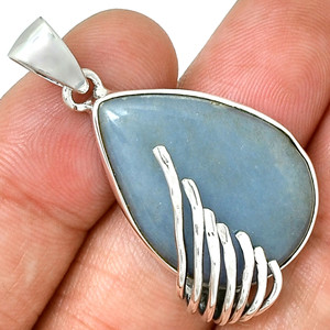 Angelite 925 Sterling Silver Pendant Jewelry PP213304