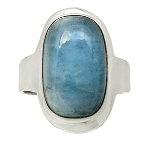 Aquamarine 925 Sterling Silver Ring Jewelry s.6.5 28379R
