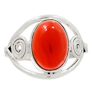 Carnelian 925 Sterling Silver Ring Jewelry s.10 28629R