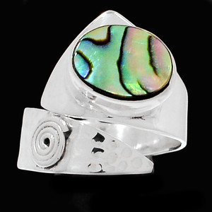 Mermaids Dream Abalone 925 Sterling Silver Ring Jewelry s.8 RR206391