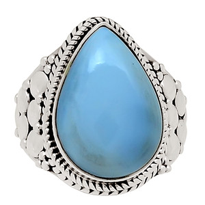Angelite 925 Sterling Silver Ring Jewelry s.6 29124R