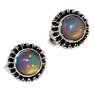 Ethiopian Opal 925 Sterling Silver Earrings Jewelry 28862E