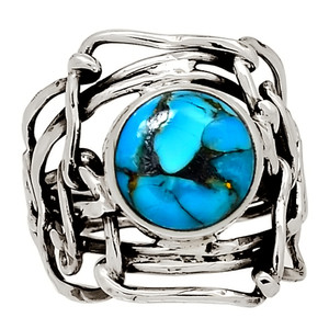 Ithaca Peak Turquoise 925 Sterling Silver Ring Jewelry s.6 28018R