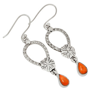 Carnelian 925 Sterling Silver Earrings Jewelry 28863E