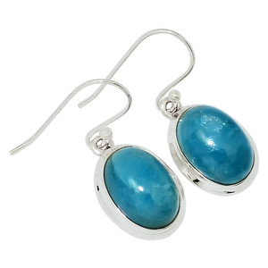 Aquamarine 925 Sterling Silver Earrings Jewelry 28974E