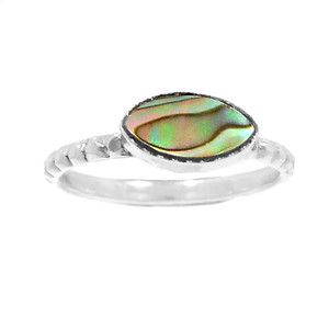 Mermaids Dream Abalone 925 Sterling Silver Ring Jewelry s.8.5 RR206447