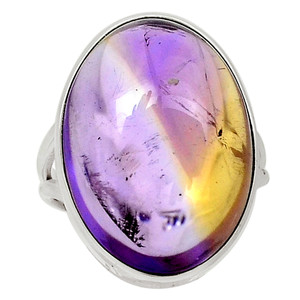 Natural Ametrine 925 Sterling Silver Ring Jewelry s.7 30457R