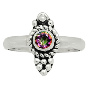 Rainbow Topaz 925 Sterling Silver Ring Jewelry s.6.5 30907R