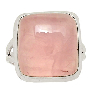 Rose Quartz 925 Sterling Silver Ring Jewelry s.8 30148R