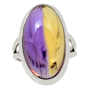 Natural Ametrine 925 Sterling Silver Ring Jewelry s.7 30452R
