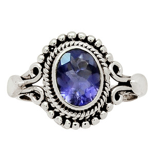Iolite - India 925 Sterling Silver Ring Jewelry s.5.5 30840R