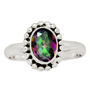 Rainbow Topaz 925 Sterling Silver Ring Jewelry s.7.5 30806R
