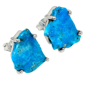 Sleeping Beauty Turquoise - Arizona Rough 925 Silver Earrings Jewelry 31132E