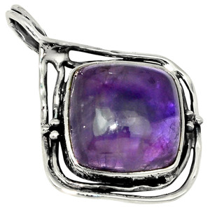 Amethyst - Africa 925 Sterling Silver Pendant Jewelry 30954P