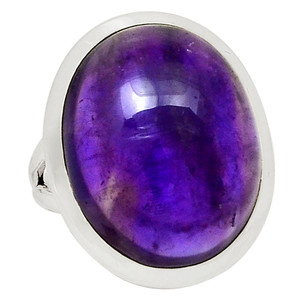 Amethyst - Africa 925 Sterling Silver Ring Jewelry s.6 31355R
