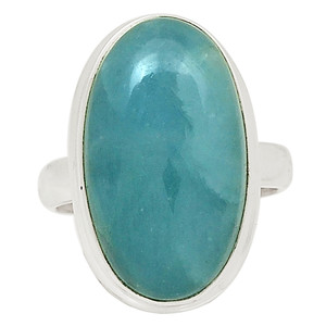Aquamarine - Brazil 925 Sterling Silver Ring Jewelry s.7 31747R