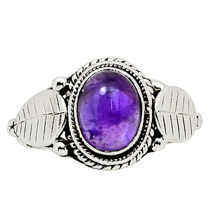 Amethyst - Africa 925 Sterling Silver Ring Jewelry s.7 30845R
