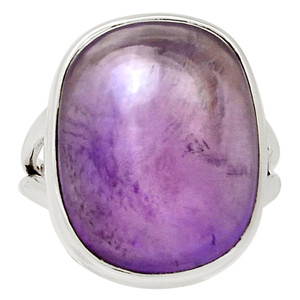 Amethyst - Africa 925 Sterling Silver Ring Jewelry s.7 31371R