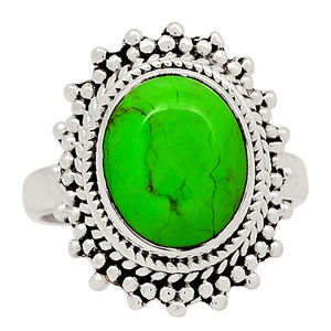 Green Mohave Turquoise 925 Sterling Silver Ring Jewelry s.7.5 31745R