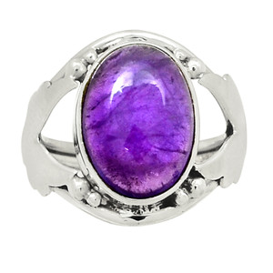 Amethyst - Africa 925 Sterling Silver Ring Jewelry s.6.5 30920R