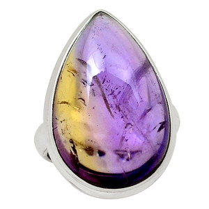 Natural Ametrine 925 Sterling Silver Ring Jewelry s.5.5 30455R