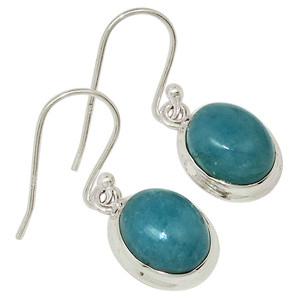 Aquamarine 925 Sterling Silver Earrings Jewelry 29998E