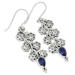 Iolite - India 925 Sterling Silver Earring Jewelry 32478E