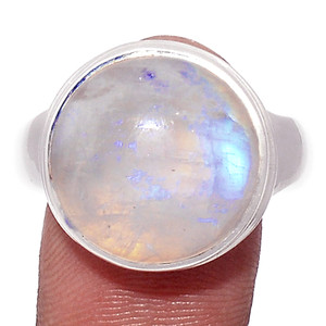 14g Blue Fire Moonstone 925 Silver Ring Jewelry s.10 BFMR2823