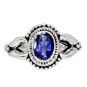 Iolite - India 925 Sterling Silver Ring Jewelry s.7 32389R