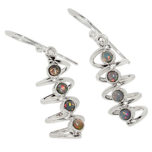 Ethiopian Opal 925 Sterling Silver Earrings Jewelry 32772E