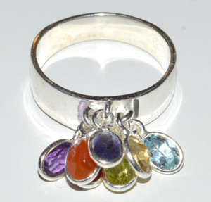 Well Being Chakra 925 Sterling Silver Rings Jewelry s.8  JB13245