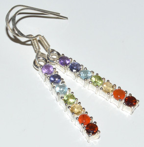 Healing Chakra Amethyst 925 Sterling Silver Earrings Jewelry JB12761