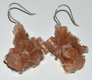 Aragonite Crystal Star 925 Sterling Silver Earrings Jewelry JB12677