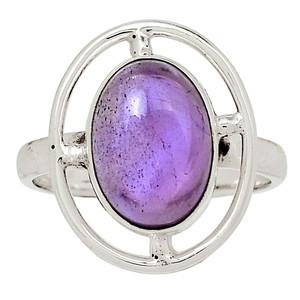 Amethyst - Africa 925 Sterling Silver Ring Jewelry s.8.5 32624R