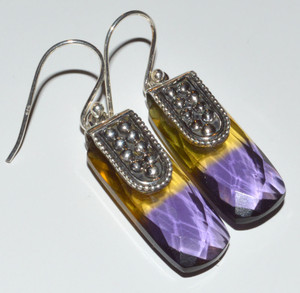 Ametrine Quartz 925 Sterling Silver Earrings Jewelry JB12741