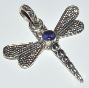 Dragonfly - Iolite 925 Sterling Silver Pendant Jewelry JB12460