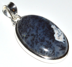 Merlinite - Dendritic Opal - 925 Sterling Silver Pendant  JB12018