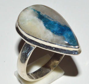Blue Scheelite From Turkey 925 Sterling Silver Rings Jewelry s. 6.5 JB13088