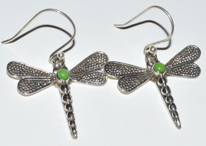 Dragonfly Green Turquoise 925 Sterling Silver Earrings Jewelry JB12564