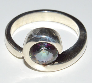 Rainbow Topaz 925 Sterling Silver Rings Jewelry s.6  JB13337