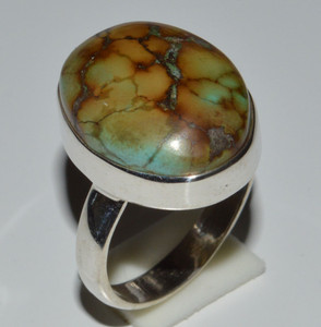Tibetan Turquoise 925 Sterling Silver Rings Jewelry s.6.5  JB13303