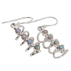 Fire Opal 925 Sterling Silver Earrings Jewelry 32975E