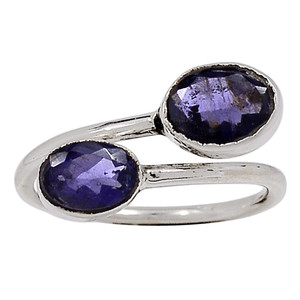 Iolite - India 925 Sterling Silver Ring Jewelry s.8.5 33176R