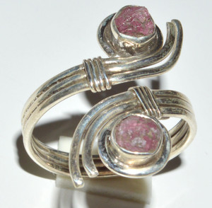 Pink Tourmaline Crystal  925 Sterling Silver Ring Jewelry s.9 JB14553