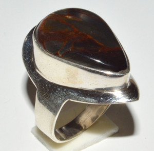 Pietersite - Namibia 925 Sterling Silver Ring Jewelry s.5.5 JB14437