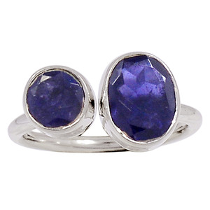 Iolite - India 925 Sterling Silver Ring Jewelry s.6.5 33191R