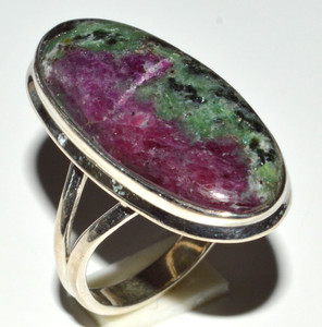 Ruby With Zosite 925 Sterling Silver Ring Jewelry s.8.5 JB14617